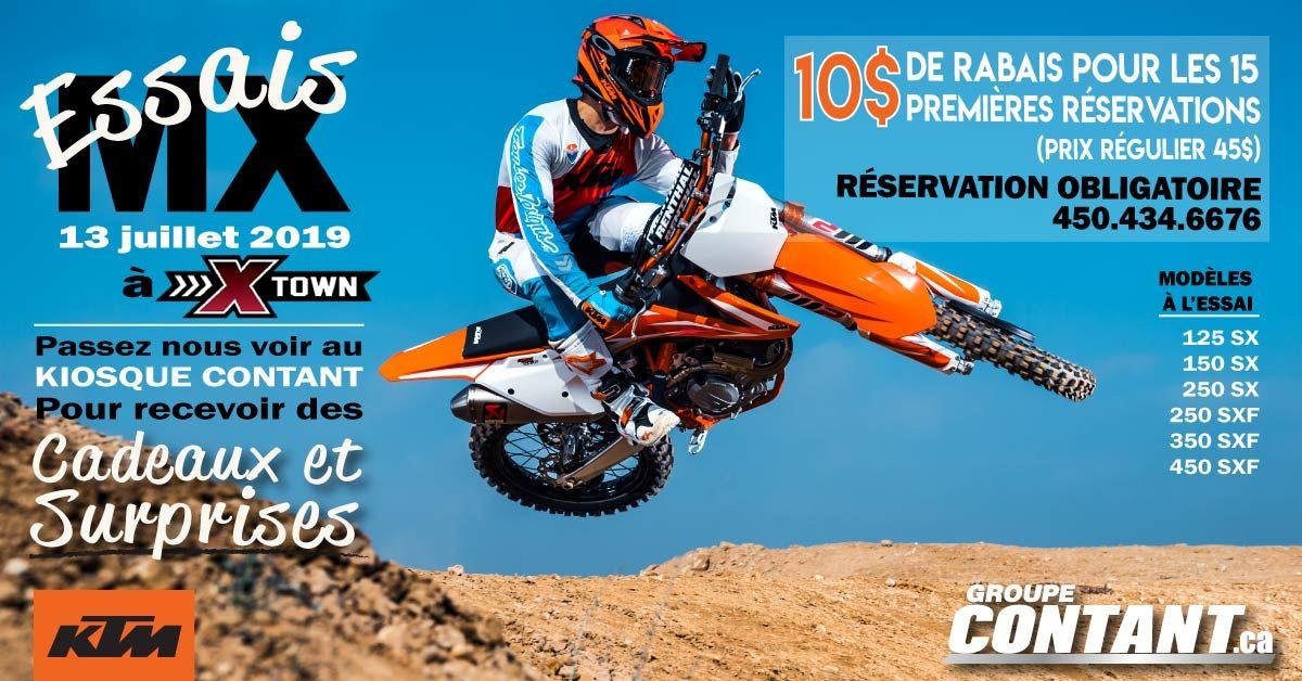 Essais KTM de motocross