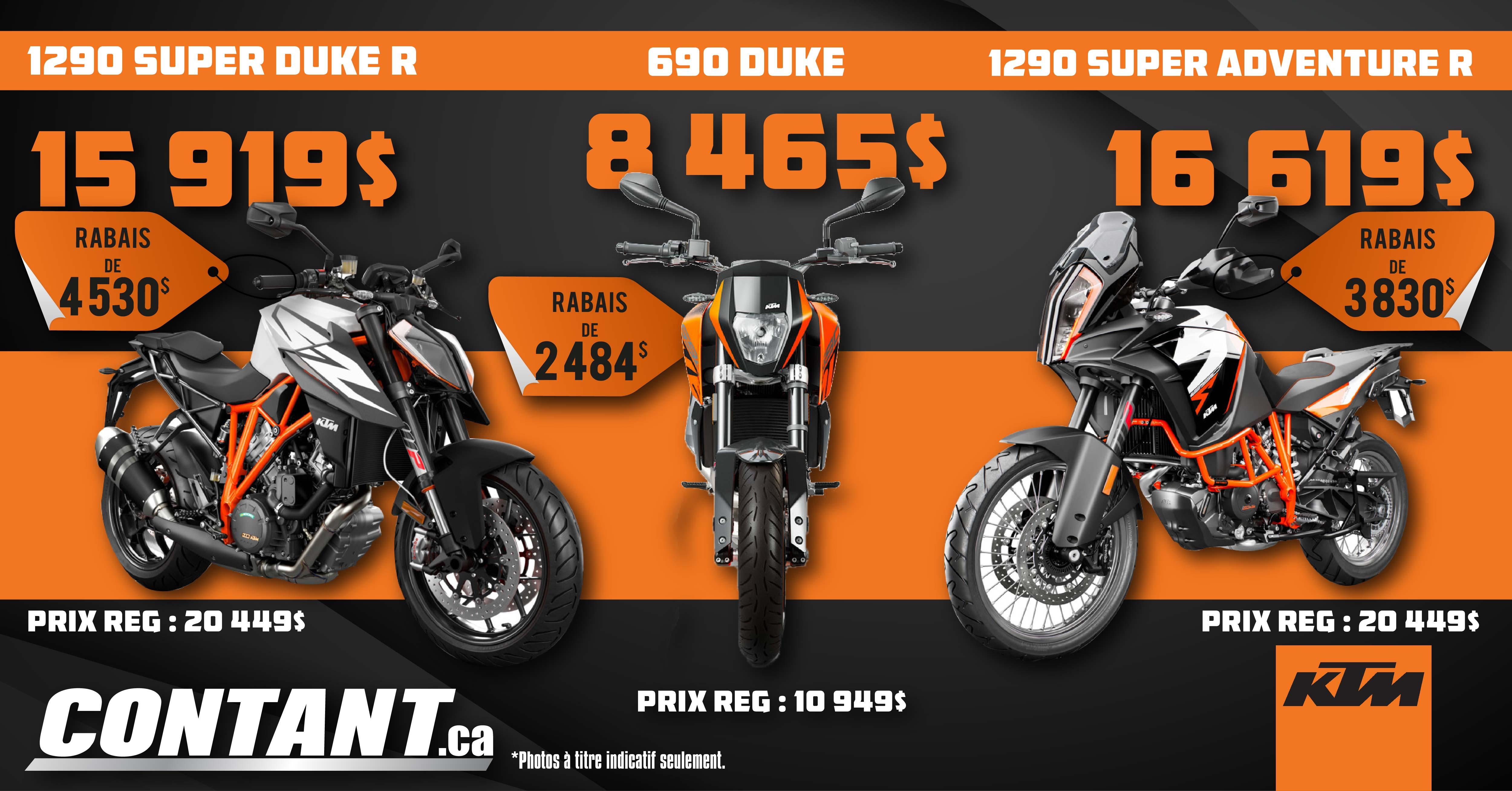 Promotion sur modèles sélectionnées KTM