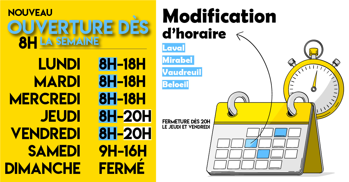 Modification d'horaire