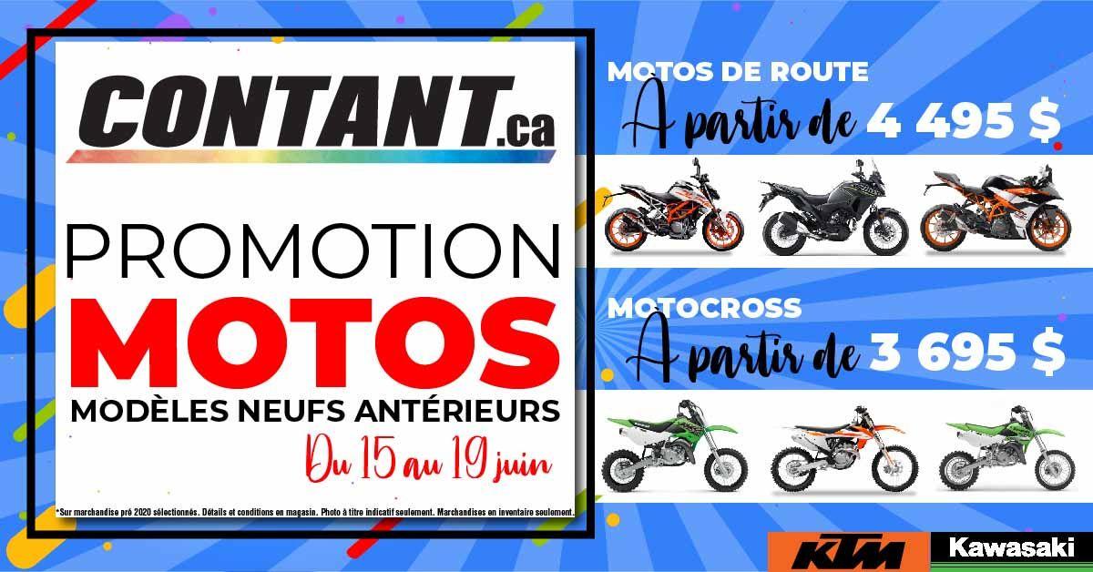 Promotion motos modèles neufs antérieurs